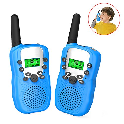Joyfun Kids Outside Toys for 4-10 Year Old Boys Kids Walkie Talkies Two Way Long Range T388 Walky Talky for Hiking and Outdoor Nature Exploration Gifts for 5-8 Year Old Boys JF-WT Blue