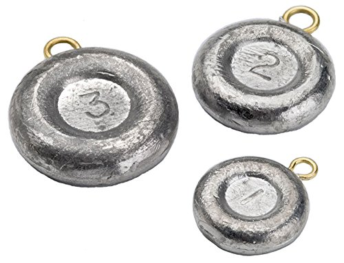 Bullet Weights Disc Fishing Sinker (8-Pack), 2-Ounce