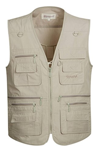 Gihuo Men's Summer Outdoor Work Safari Fishing Travel Vest Pockets