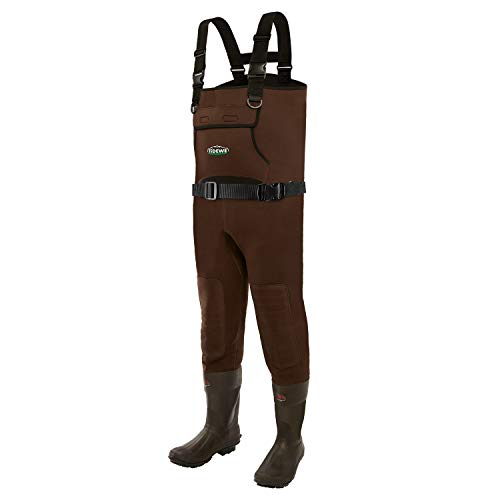 TideWe Neoprene Waders, Cleated Bootfoot Men Chest Waders, Waterproof Durable Fishing & Hunting Neoprene Chest Waders